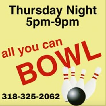 Thursday night all you can bowl